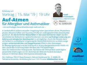 Vortag: Auf-Atmen für Allergiker und Asthmatiker